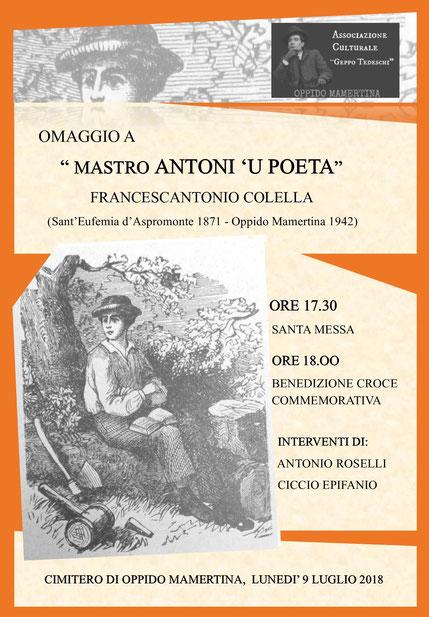 "Omaggio a "" Mastro Antoni 'u poeta - Francescantonio Colella"""