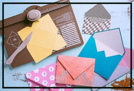 Slakkenpost - envelop punch board