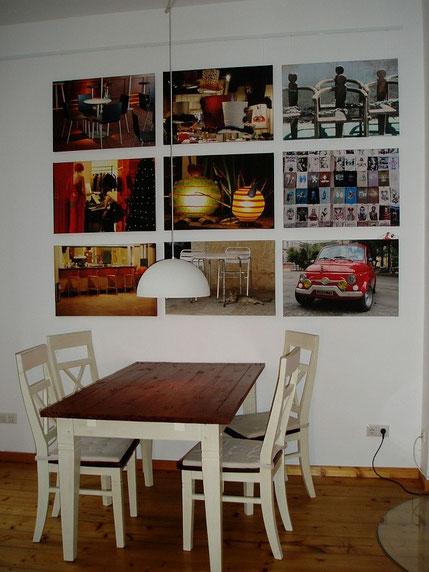 Wohnbeispiele Leinwanddruck, Fotos auf Leinwand