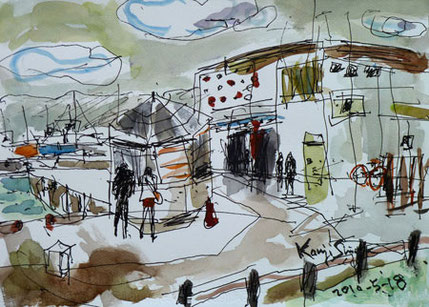 藤沢市・片瀬漁港の魚市場
