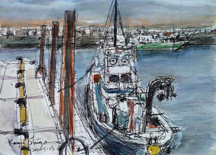 片瀬漁港の漁船