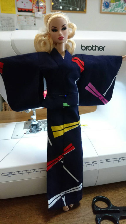 Fashion Royalty 浴衣,Yukata Doll,FR kimono