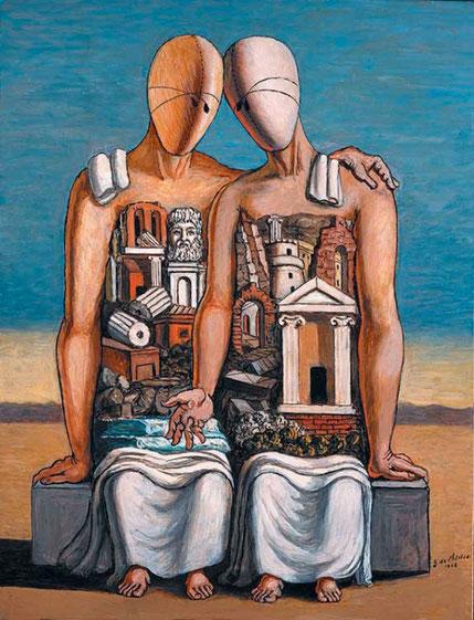 """Giorgio De Chirico, """"Archeologi"""" (1968)"""