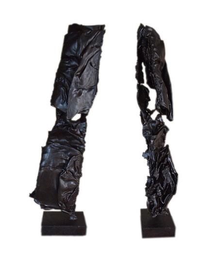 Acier oxydé soudé  Face  Profil 2012 100 x 70 x 50
