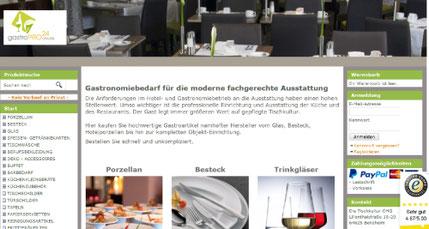 Gastronomie Onlineshop gastropro24.de
