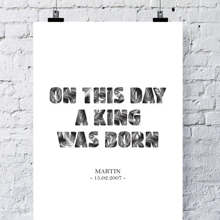 On this day a king was born - ab 7,99€