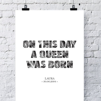 On this day a queen was born - ab 7,99€