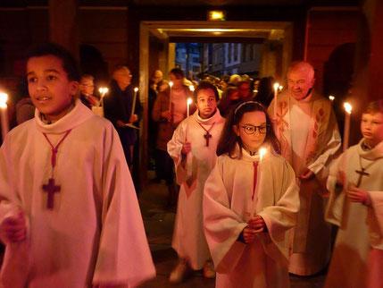 1.3--Procession d'entrée (ici à St Mathieu)