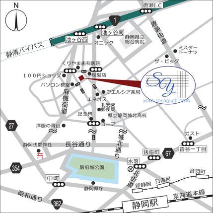 坂口陽子税理士事務所アクセスマップ