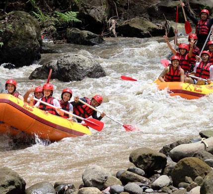 Raftenop de Ayung rivier op Bali