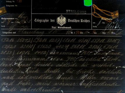Telegram von 1900