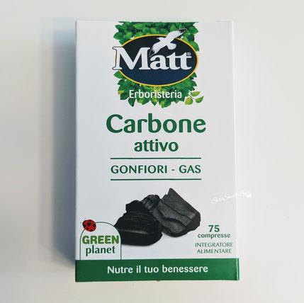 Integratore alimentare carbone attivo vegetale Matt