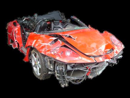 Totalschaden Ferrari Modena
