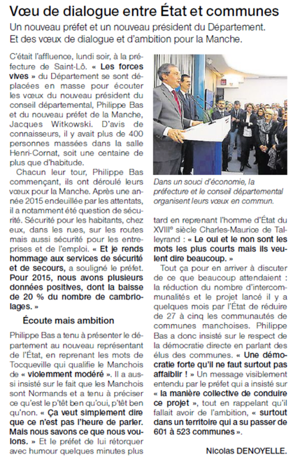 Ouest-France, 12/01/2016