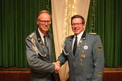 Jens Hesebeck übergibt den Vorsitz an Thomas Jirjahn