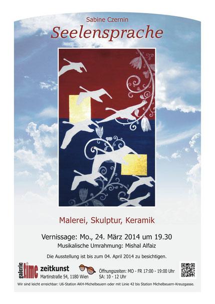 Galerie Time Kulturkreis Wien Günther W. Wachtl Sabine Czernin Seelensprache Ausstellung Kunst Asiatische Philosophie Acryl Bilder