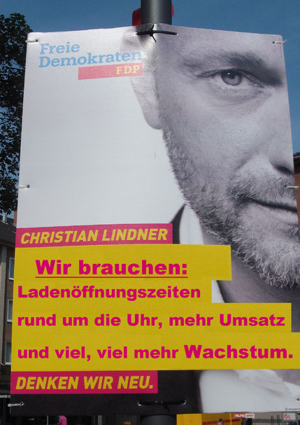 "FDP, Christian Lindner, ""Fridays for Future"", Demoplakat,"