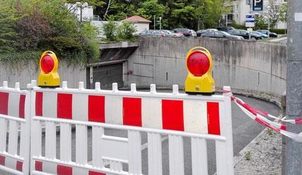 Teurer Sanierungsfall: die seit Monaten gesperrte Tiefgarage am Geißmarkt neben der Stadthalle.