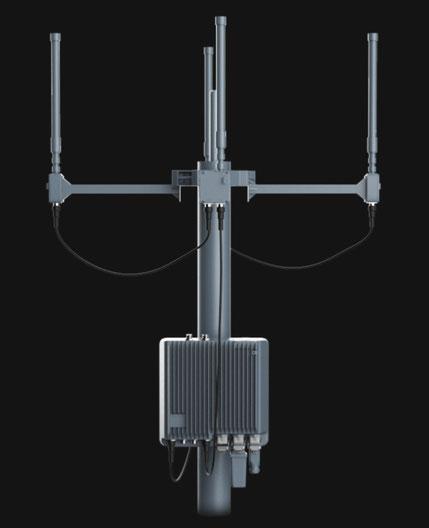 La unidad fija de Aeroscope permite tener detectar drones hasta en 9 kilómetros, fácil de instalar e integrarlo con los sistemas de seguridad existentes