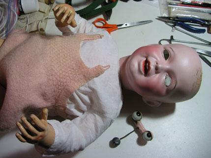 Réparation poupées anciennes et contemporaines, clinique pour poupées, poupons et baigneurs, réparer une poupée, un baigneur