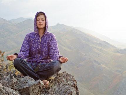 Lu Jong Übungen ergänzen den Meditationskurs im Oberallgäu