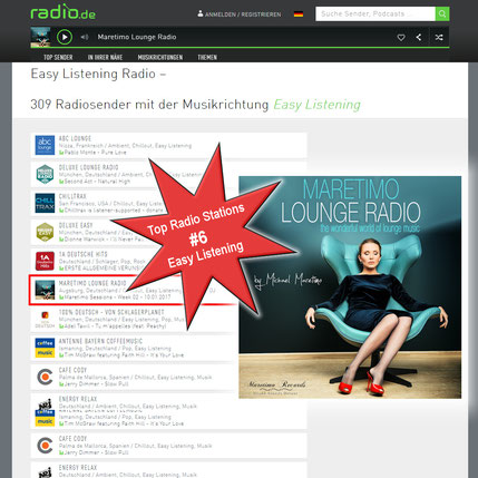 Maretimo Lounge Radio #6 top radio stations in germany genre easy listening at Radio.de - Maretimo Records