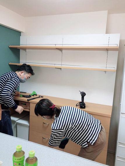オーダー家具 カップボード 収納棚 造作家具
