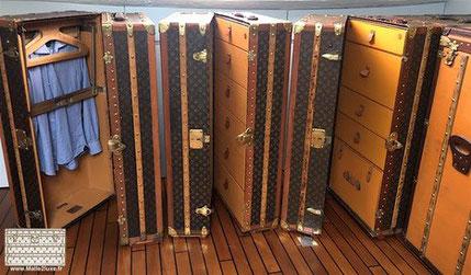 malles wardrobes louis vuitton anciennes nombreuse