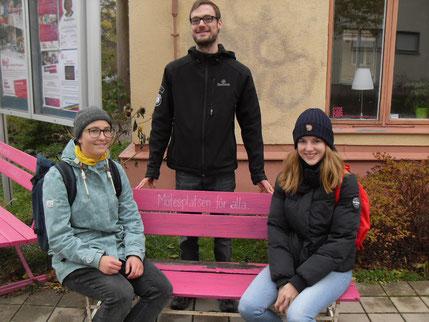 Hanne, Patrick und Klara gemeinsam auf dem Eriksweg