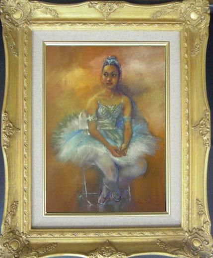 肖像画 人物画 パステル画 パステル画教室 絵画 バレー バレリーナ シュミンケソフトパステル