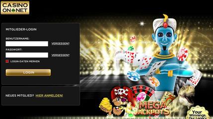 So einfach ist die Anmeldung bei Casino-on-net