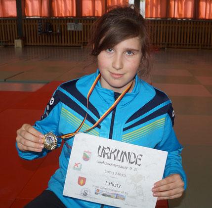 Judo-Landesmeisterin Lena Milatz vom JC Genthin. Foto: Alpha-Report