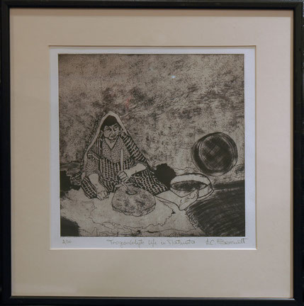 Trogodolyte Life in Matmata - Etching by Anne Berendt
