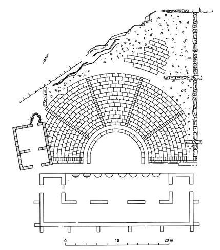Butrint (Buthrotum) : Plan du Théâtre (Albanie)