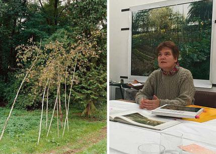 Pfirsichbaum / Simone Nieweg in ihrem Atelier