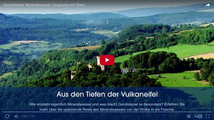 Was macht Gerolsteiner Mineralwasser so besonders? Mehr erfahren auf YouTube!