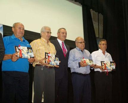 de izquierda a derecha, Segundo Cantarero (presidente fundador) Ángel Nuevo, Santiago Añover, Pablo Sanchez y Ángel Argumanez