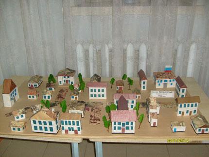 макет поселка