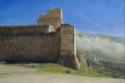 アッシジの要塞 20x30cm
