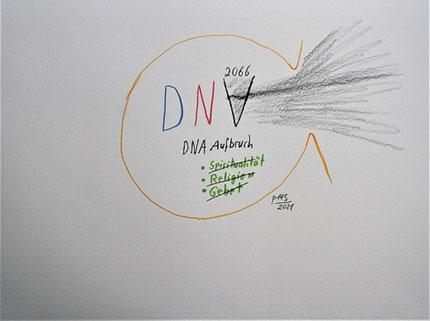 Dystopie DNA Aufbruch 2066 A.D. Gebet Religion Spiritualität