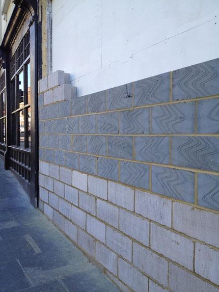 イギリスのコンクリートブロック
