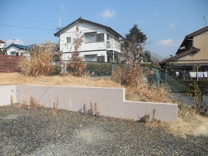 Before 土留めは隣地が高いため構造上必要でした