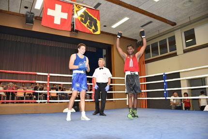 2. Sieg bei den Amateuren für Swissan Jeganathan (Halbschwer) - BOXING TEAM ITTIGEN - SA 15.09.2018 - ITTIGEN BOXEN III