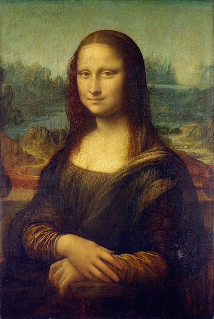 レオナルド・ダ・ヴィンチ《モナリザ》1503-1506年。Wikipediaより。