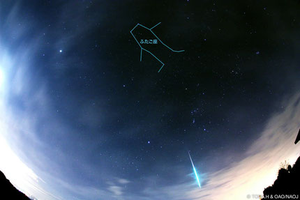 国立天文台HPより / ふたご座流星群