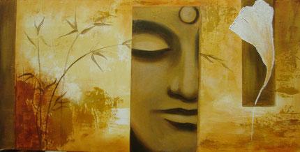 Buddha mit Ginko