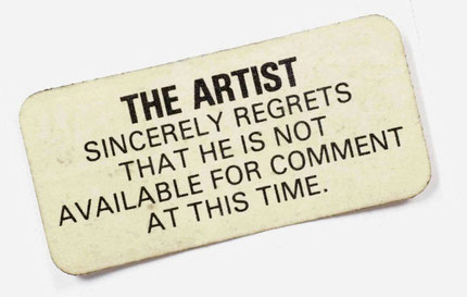 Anonyme: The Artist, n.d., sticker