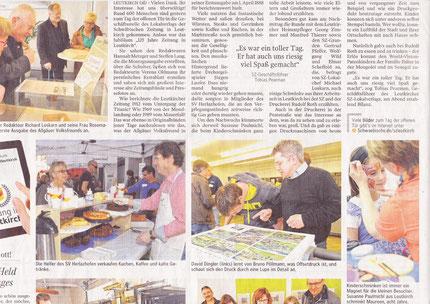 Tag der offenen Tür in der Schwäbischen Zeitung, SZ 15.04.2013