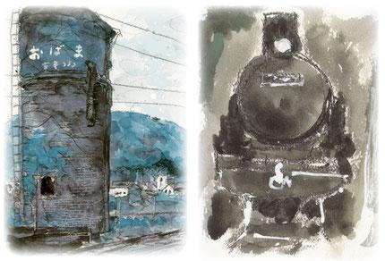 提供:小浜線鉄道遺産を守る会  画:渡辺淳