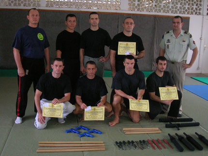 STAGE INSTRUCTEUR SELF DEFENSE PROFESSIONNELLE GUYANE 2005